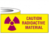 "Tape - ""Caution - Radioactive"", 500 x 1 Inch Labels/Roll"