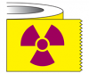 Tape - Radioactive Symbol, 1 Inch Wide x 500 Inches/Roll