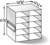 Upright Freezer Racks for 100 Cell Hinged Top Boxes - 10 Place