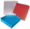 "Red 2"" Microtube Storage Boxes, 100 Place"