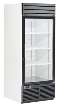 Single Swinging Glass Door, Bottom Mount Freezer