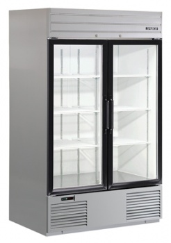 Double Stainless Xterior� Glass Swing Door, Bottom Mount Refrigerator