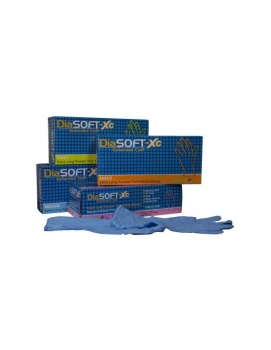 DiaSOFT Extended Cuff 4 mil Nitrile Gloves, Extra-Small Powder-Free, 100/box