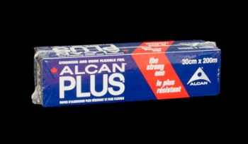 Alcan Aluminum Foil Plus. 30 Centimeters Wide x 200 Meters Long, 1 Roll, Each