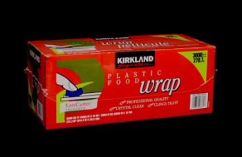 All Purpose Plastic Wrap. 30.48 Centimeters Wide x 228.6 Meters Long, 1 Roll, Each